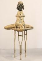 Ímpar, 2013, bronze, 180x96x96cm Ímpar, 2013, bronze, 180x96x96cm