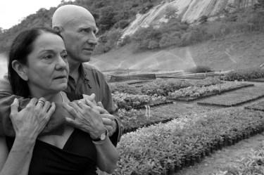 Sebastião e Lélia no Instituto Terra