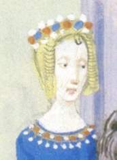 Entry to Paris of Isabeau of Bavaria, queen of France, in 1389, miniature of Chroniques de Froissart