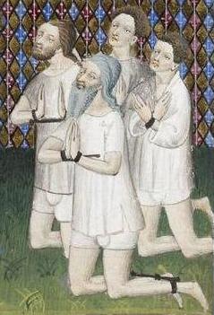 Prisoners(?) Shirts and braies, c. 1410