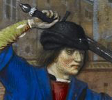 Man wearing a black bycoket, c. 1490's