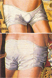 Short tight breeches 1400's