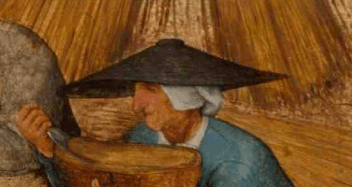 Funky straw hat over a coif, 1565