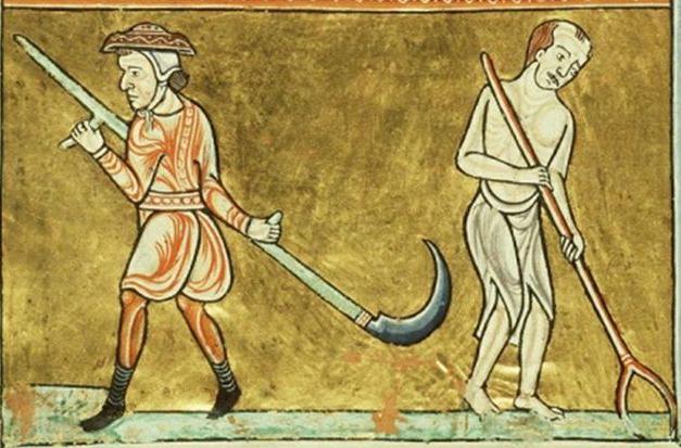 Peasants working, 1180