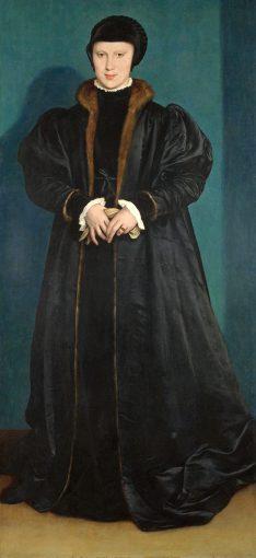 """Christina of Denmark, Duchess of Milan, in mourning"""