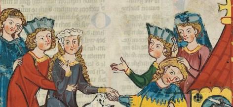 Linen barbet and fillet headress. First half of 1300's