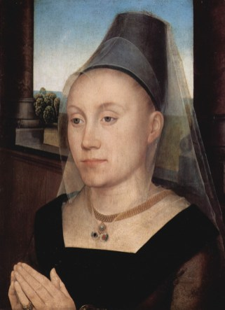 Barbara van Vlaendenbergh wearing a truncated hennin, c. 1480