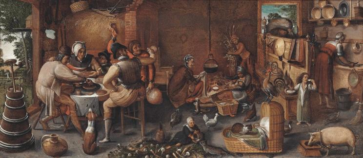Marten van Cleve, A Visit to the Wet Nurse, third quarter of the 1500's