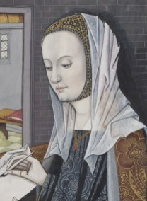 Lady wearing a veil over a crespine, 1497