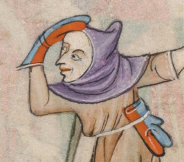 Hunter in a capuchon, c. 1325-1340