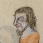 Beared cook with a chin curtain and longish hair, c. 1325-1340