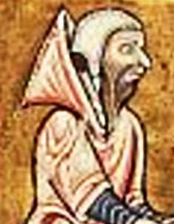 Peasant wearing a coif and a chaperon hood c. 1180