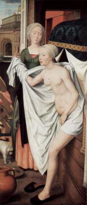 Bathsheba In The Bath Hans Memling Date: 1480
