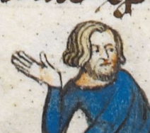 Blond haired man with longish hair and a full beared, c 1300-c 1340
