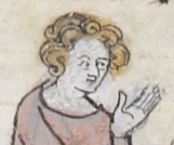 Man with curly hair, c 1300 - 1340