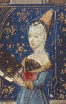 Hennin and veil. 1405.