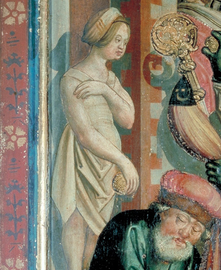 Woman in a shift, possibly bathing wearing a little hat, 1514