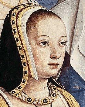 "Origin of the French hood: Anne of Brittany, 1500–1510 ""Anne de Bretagne"" by Jean Bourdichon (1457–1521)"
