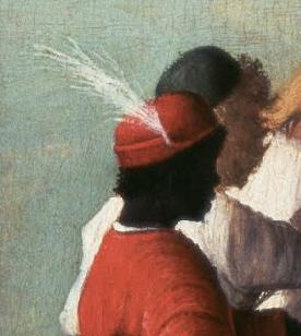 Black man wearing a bycoket c. 1490 - 1495