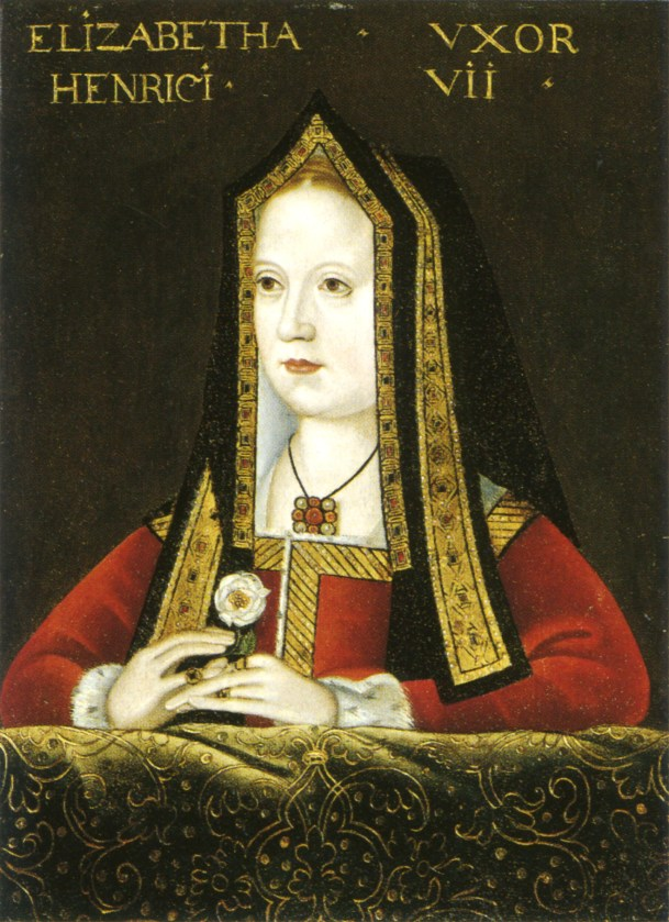 Early gable hood: Elizabeth of York c. 1500