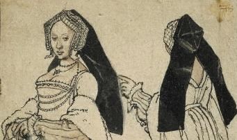 Front and back views of a box-backed gable hood of c. 1528–30.