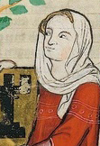 Woman in a simple veil, Codex Manesse 1300-1340