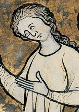 Woman with long loose hair, c. 1280