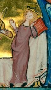 Woman wearing a cote, 1200's