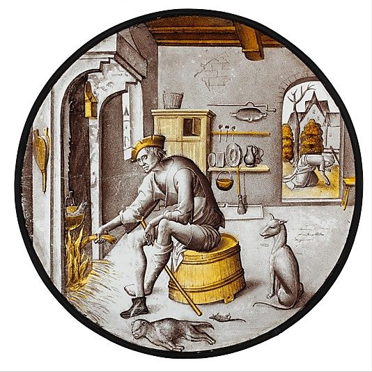 """Sorgheloos (""""Carefree"""") in Poverty, 1510–20. Netherlandish"""