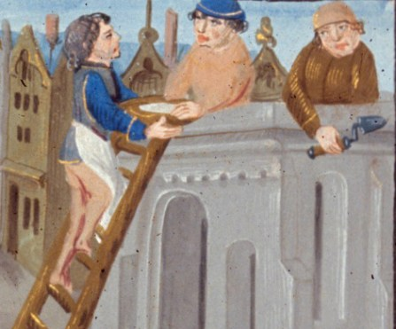 """Detail from """"La grant hystoire Cesar"""", Royal 17 F II, 1479"""