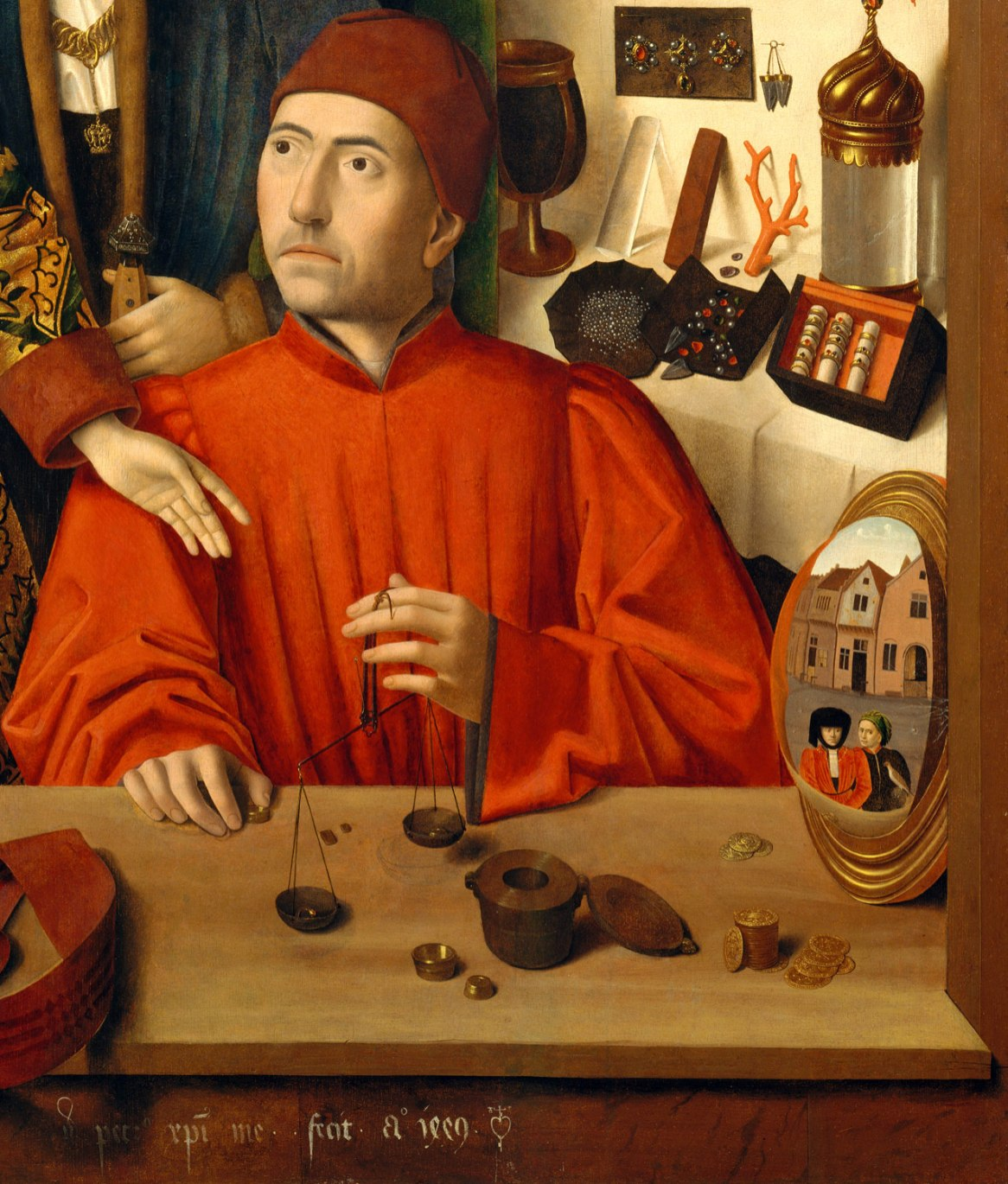 A Goldsmith in his Shop, Petrus Christus, 1449