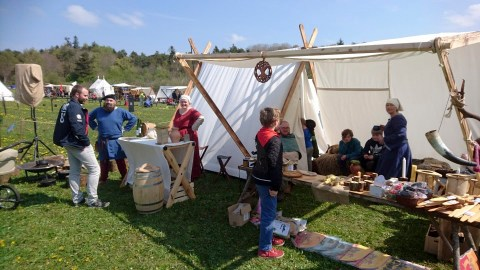 The stall and camp