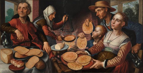 The Pancake Bakery by Pieter Aertsen 1560