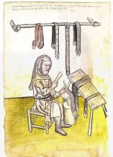 Illustration of a Belt Maker, Herman Paumgartdener - From the House Books of the Nuremberg, 1441