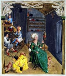 Lady spinning, 1505