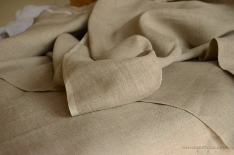 Unbleached linen fabric