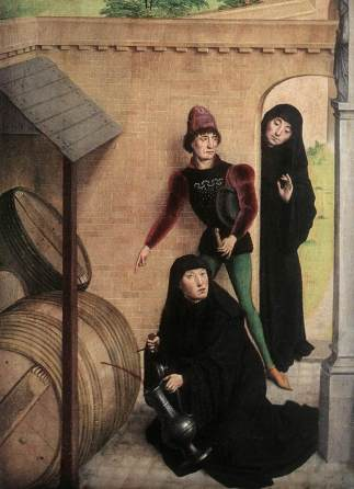 Scenes from the Life of St Bertin (detail) 1459, Simon Mormion, French-Flemish manuscript illuminator and painter