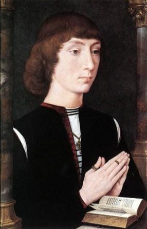 Young Man at Prayer: ca 1475