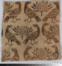 Printed linen, 1100's. Fragment. Date: 12th century CE. Culture: German (Rhine).