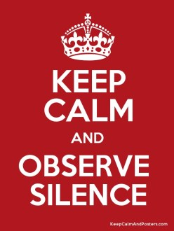 Image result for observe silence