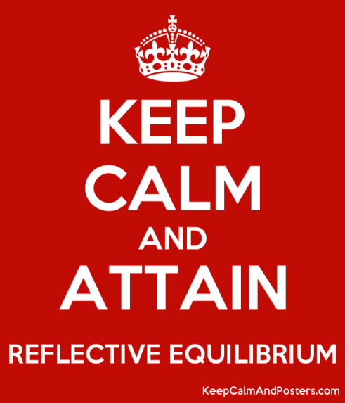 Image result for reflective equilibrium