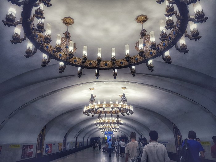 Chilonzor metro station, Tashkent Photo by Freda Hughes