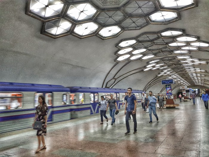 Novsa metro station, Tashkent Photo by Freda Hughes
