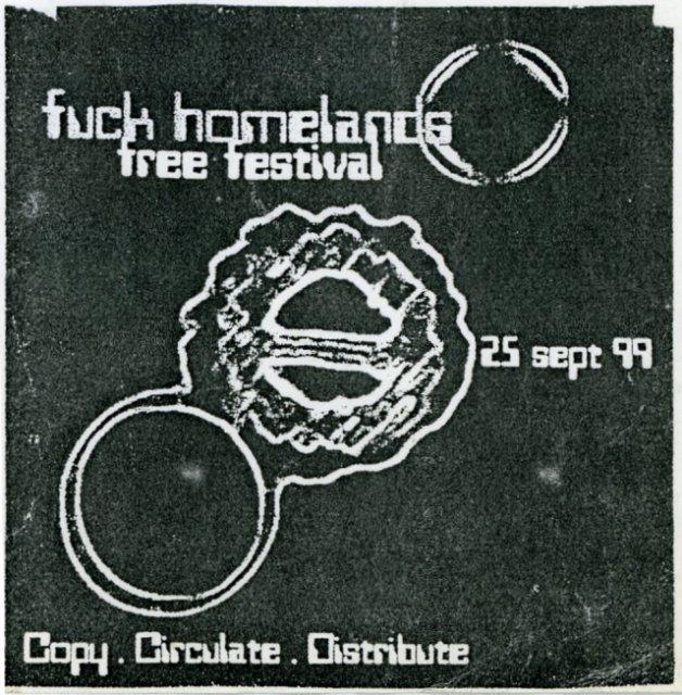 Flyer for Fuck Homelands 1999