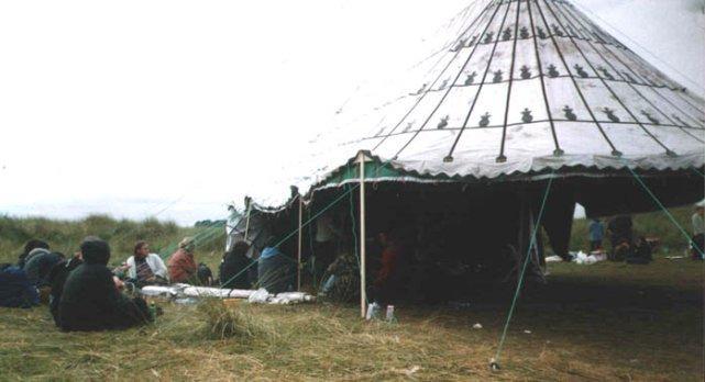 Tent at Fuck Homelands 1999