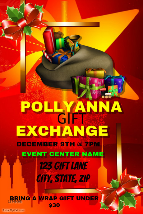 Pollyanna Gift Exchange Event Template PosterMyWall