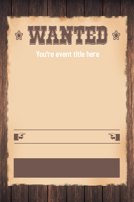 Doc501648 Free Wanted Poster Template for Kids Wanted Poster – Free Wanted Poster Template for Kids