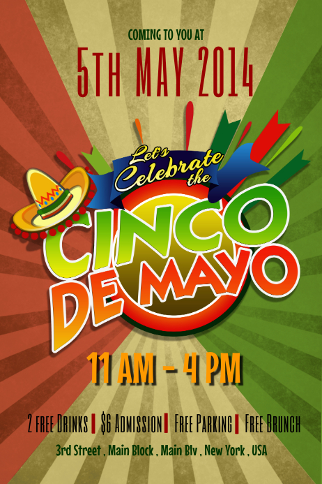 Cinco De Mayo Flyer Templates PosterMyWall