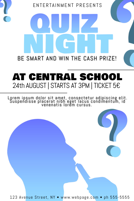 Quiz Poster Template of run a momentpub flyers year again where – Quiz Night Poster Template Free