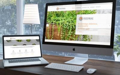 Potomac Garden Center Website